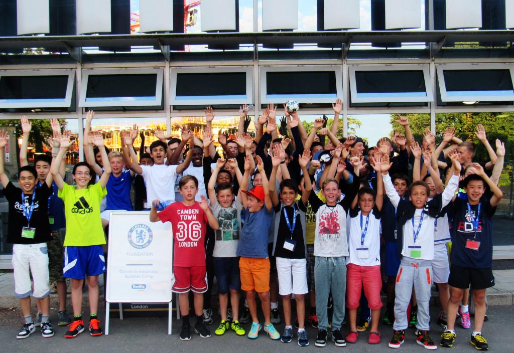 Participants of Chelsea FC soccer school 2015